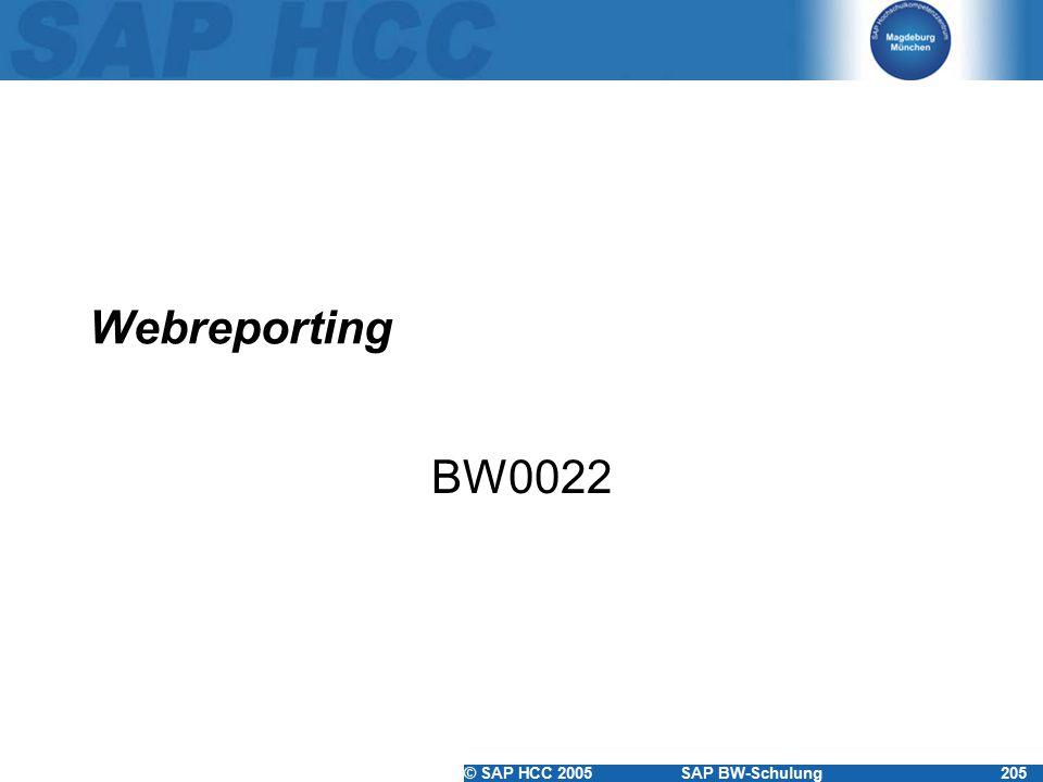 Webreporting BW0022