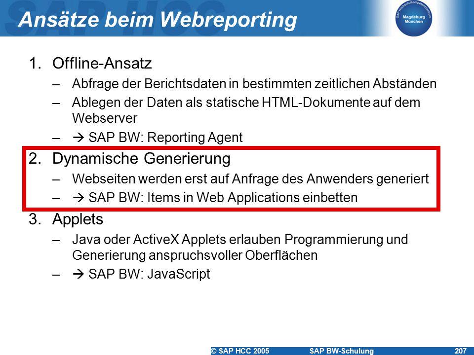 Ansätze beim Webreporting