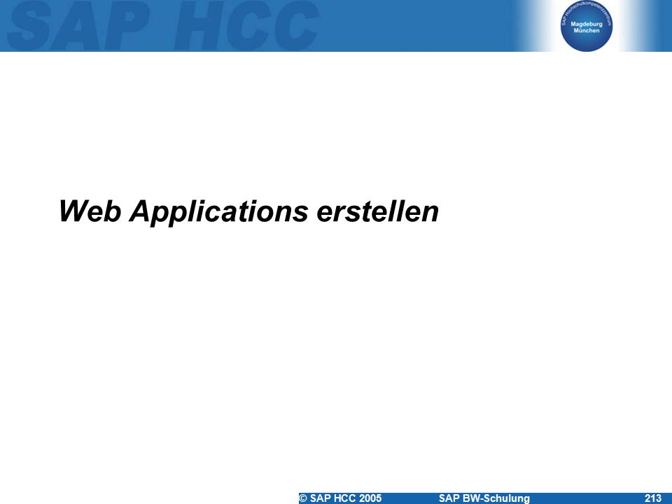 Web Applications erstellen
