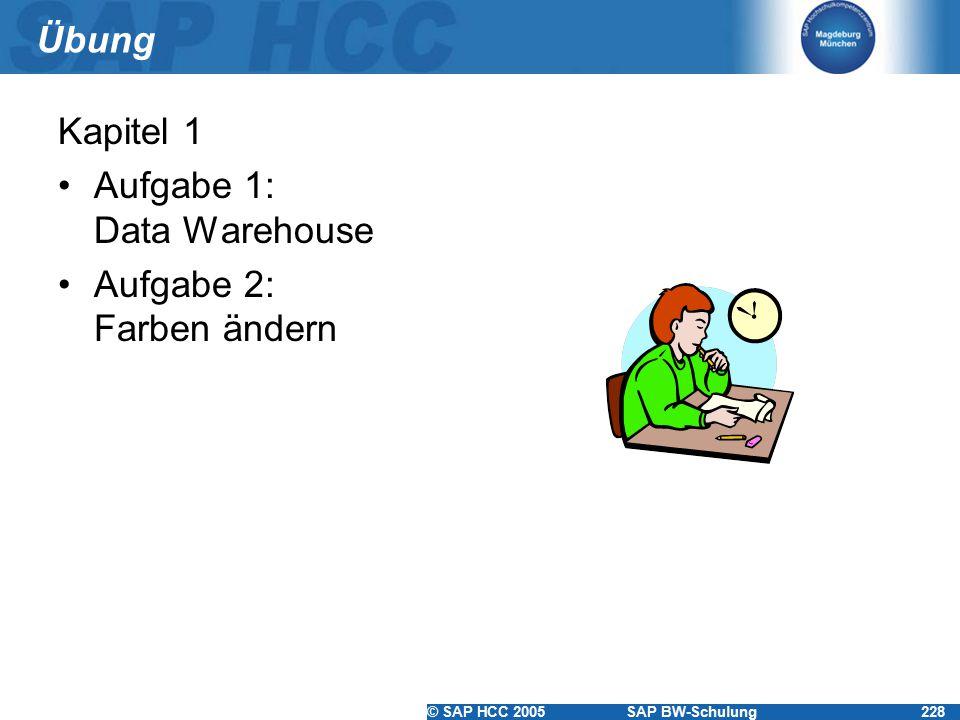 Übung Kapitel 1 Aufgabe 1: Data Warehouse Aufgabe 2: Farben ändern