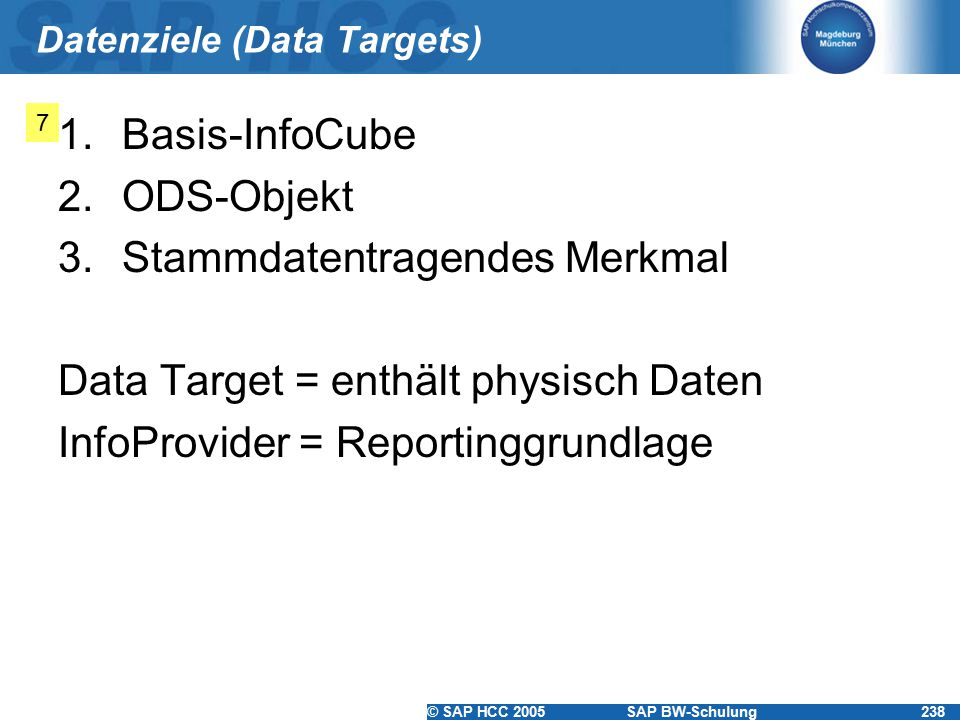 Datenziele (Data Targets)
