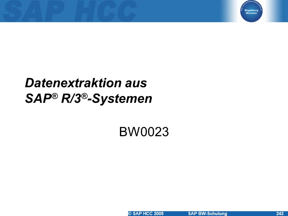 Datenextraktion aus SAP® R/3®-Systemen