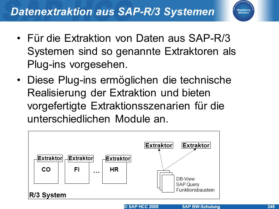Datenextraktion aus SAP-R/3 Systemen