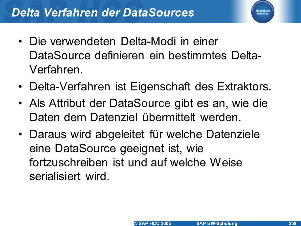 Delta Verfahren der DataSources