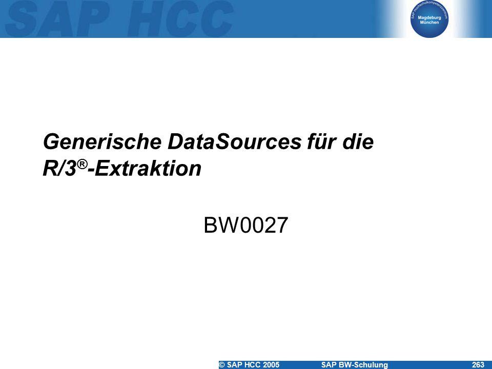 Generische DataSources für die R/3®-Extraktion