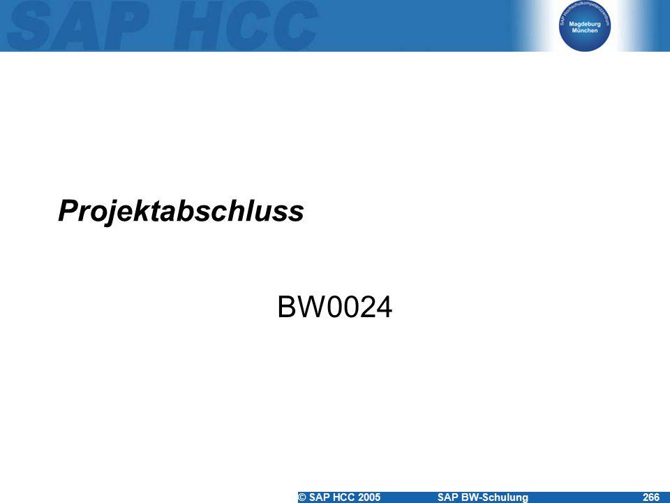 Projektabschluss BW0024