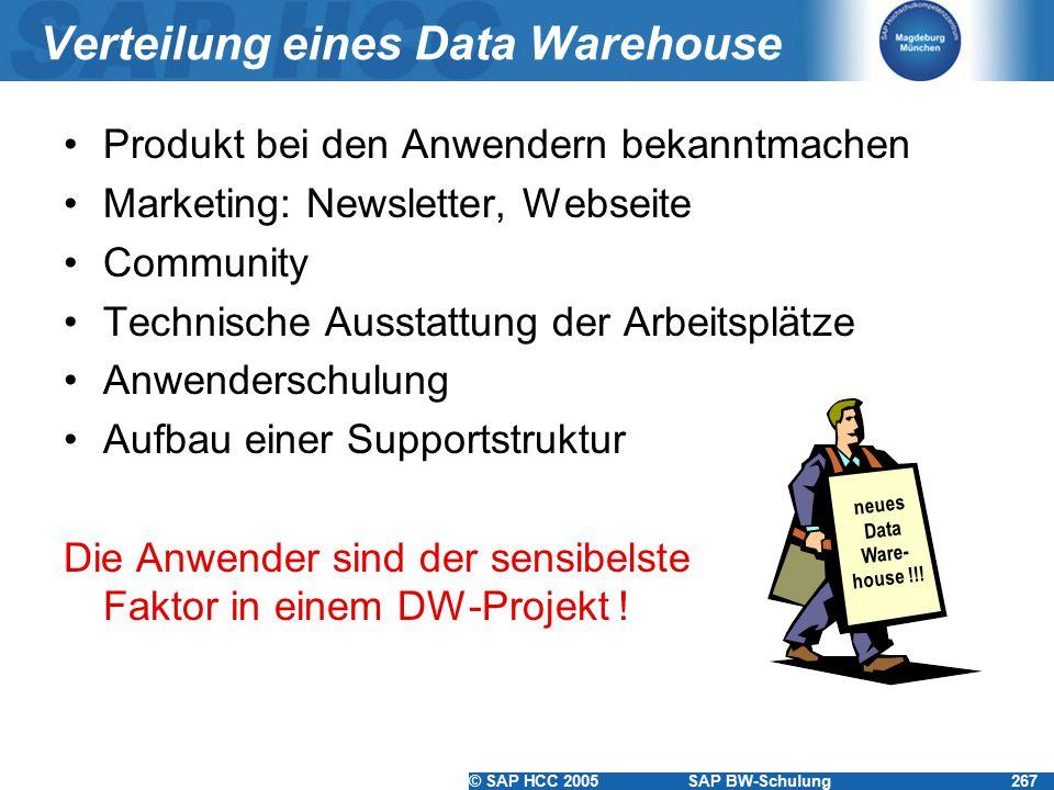Verteilung eines Data Warehouse