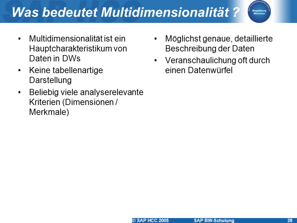 Was bedeutet Multidimensionalität