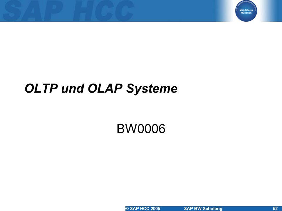 OLTP und OLAP Systeme BW0006