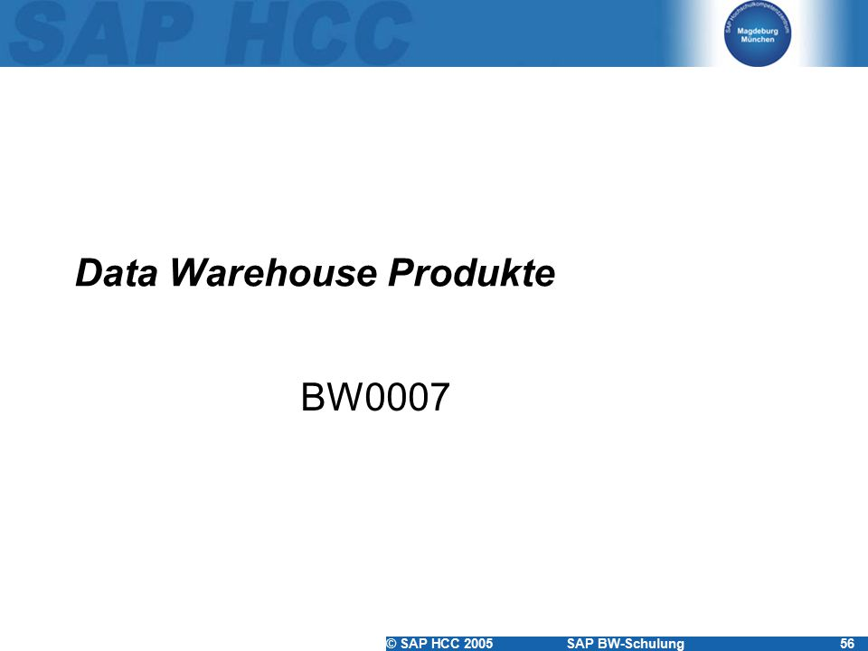 Data Warehouse Produkte