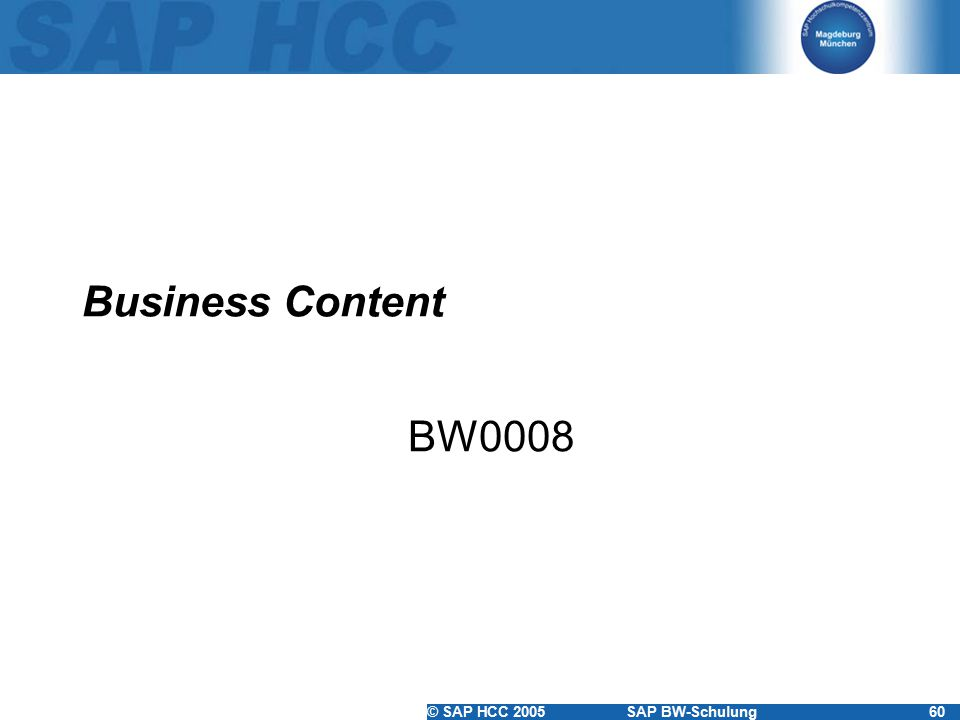 Business Content BW0008