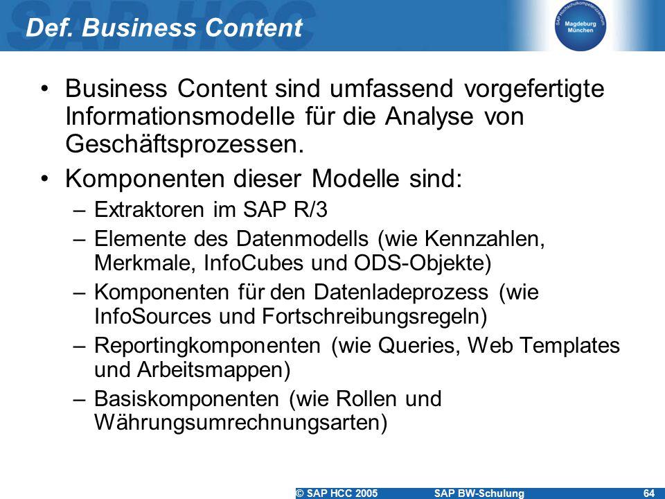 Komponenten dieser Modelle sind: