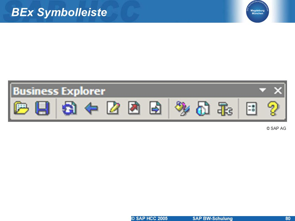 BEx Symbolleiste © SAP AG