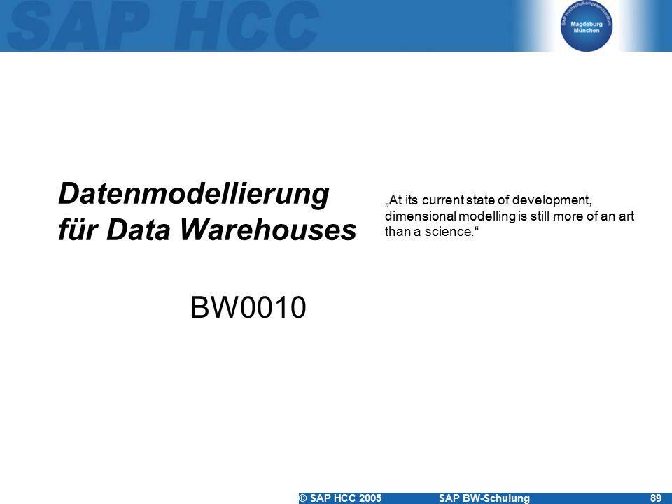 Datenmodellierung für Data Warehouses