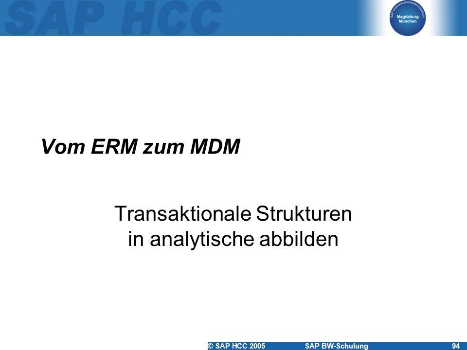 Transaktionale Strukturen in analytische abbilden