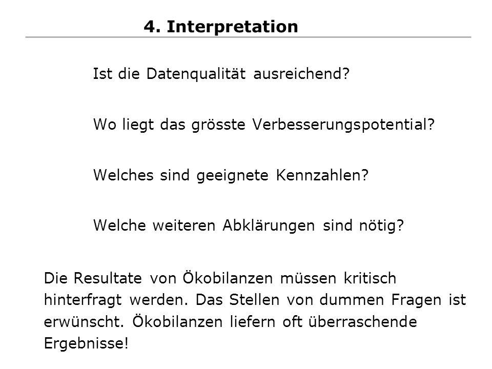 4. Interpretation Ist die Datenqualität ausreichend