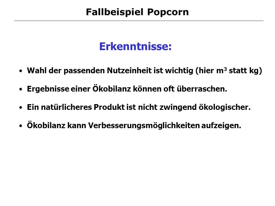 Erkenntnisse: Fallbeispiel Popcorn