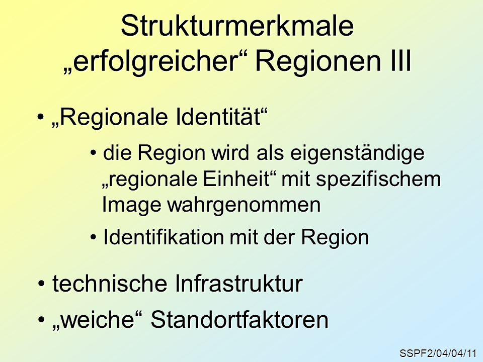 """Strukturmerkmale """"erfolgreicher Regionen III"""