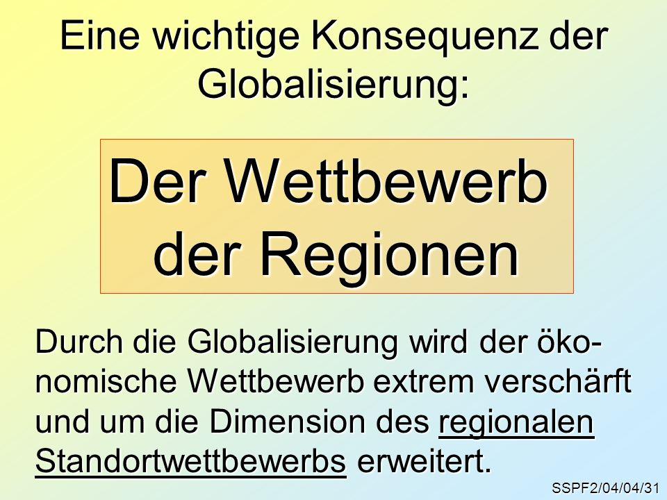 Eine wichtige Konsequenz der Globalisierung: