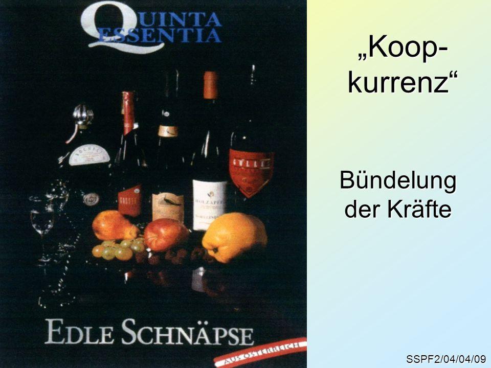 """""""Koop- kurrenz Bündelung der Kräfte SSPF2/04/04/09"""