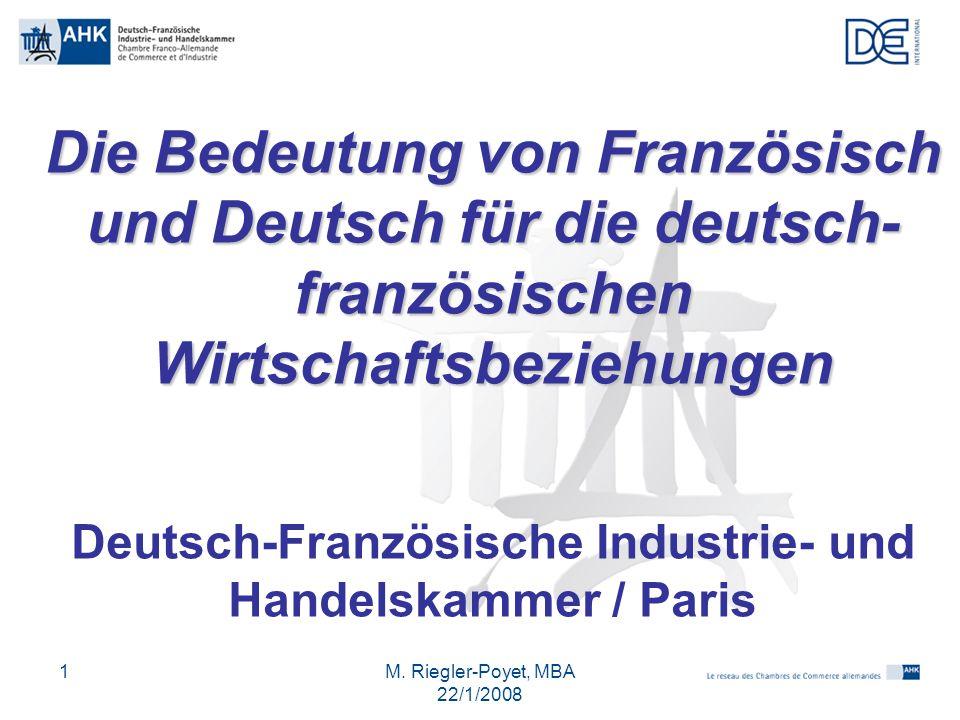 Deutsch-Französische Industrie- und Handelskammer / Paris