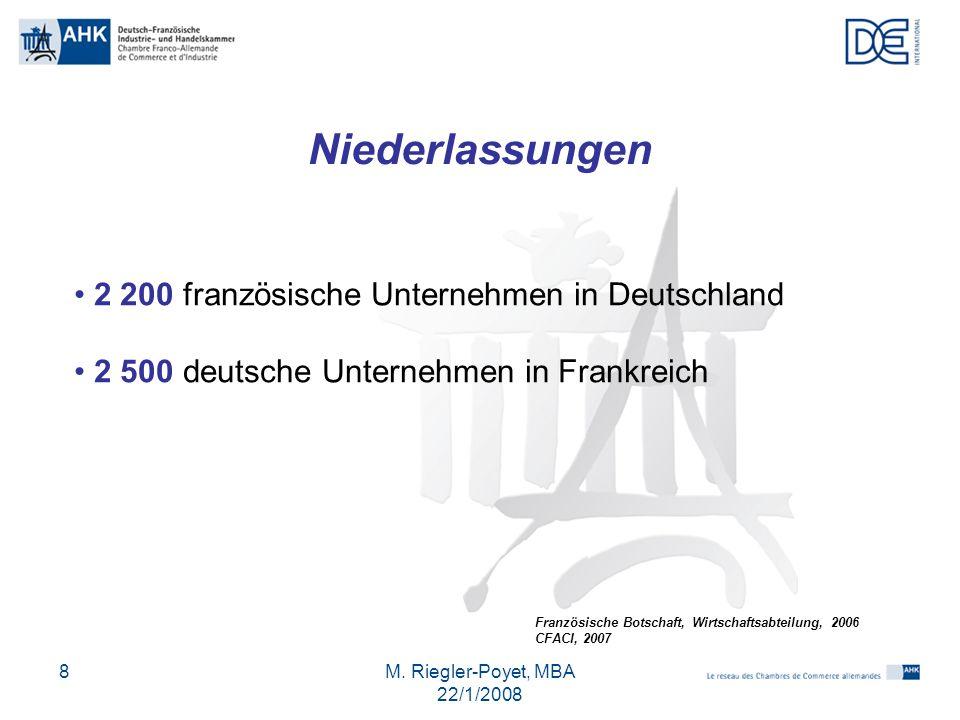Niederlassungen 2 200 französische Unternehmen in Deutschland