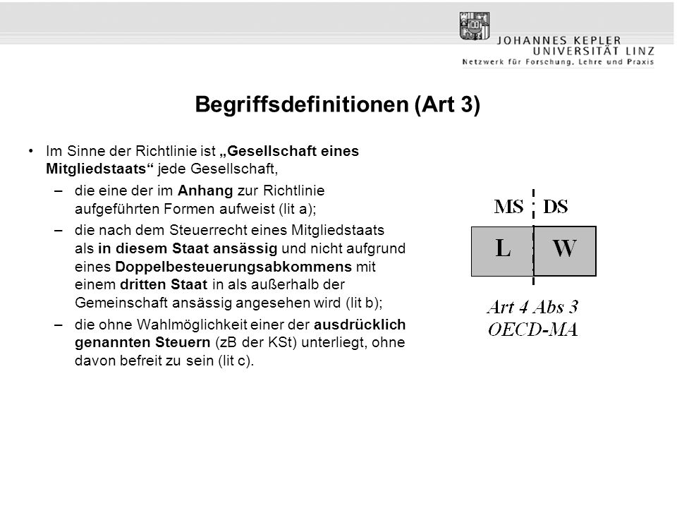Begriffsdefinitionen (Art 3)