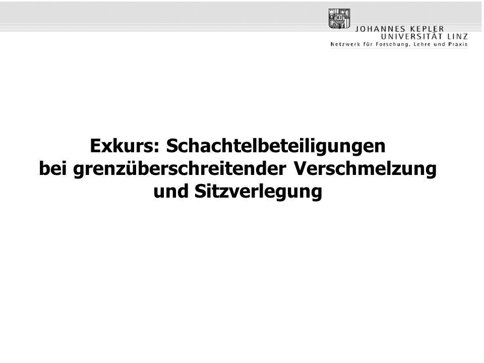 Exkurs: Schachtelbeteiligungen bei grenzüberschreitender Verschmelzung und Sitzverlegung