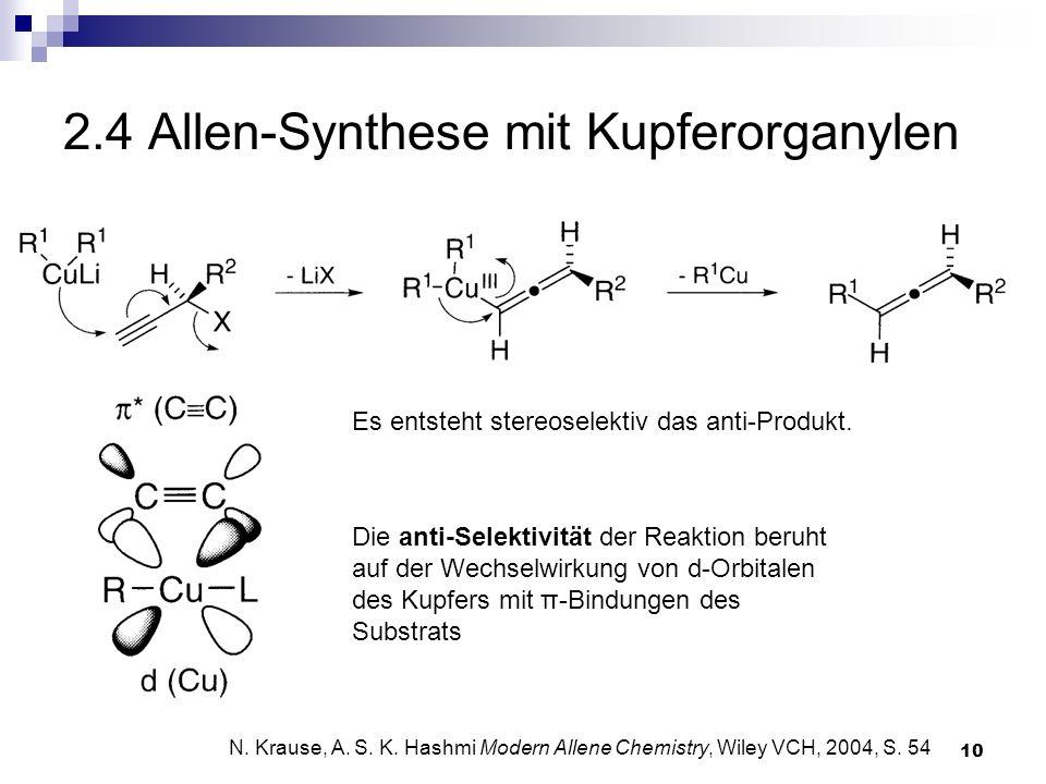 2.4 Allen-Synthese mit Kupferorganylen