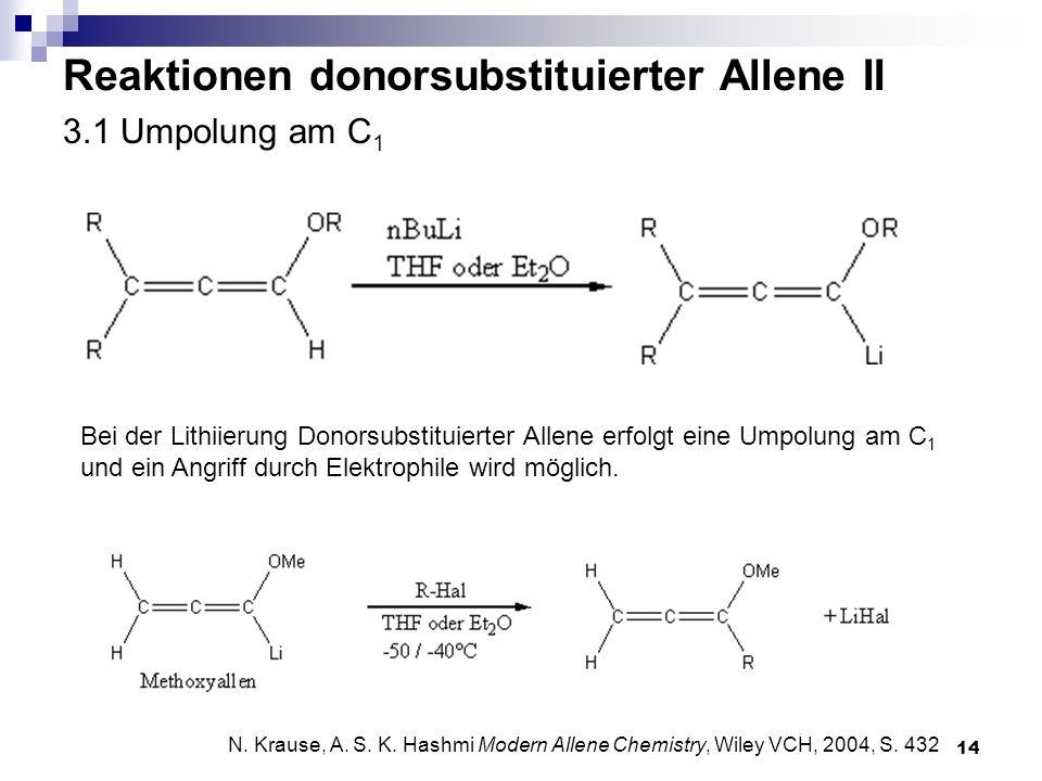 Reaktionen donorsubstituierter Allene II