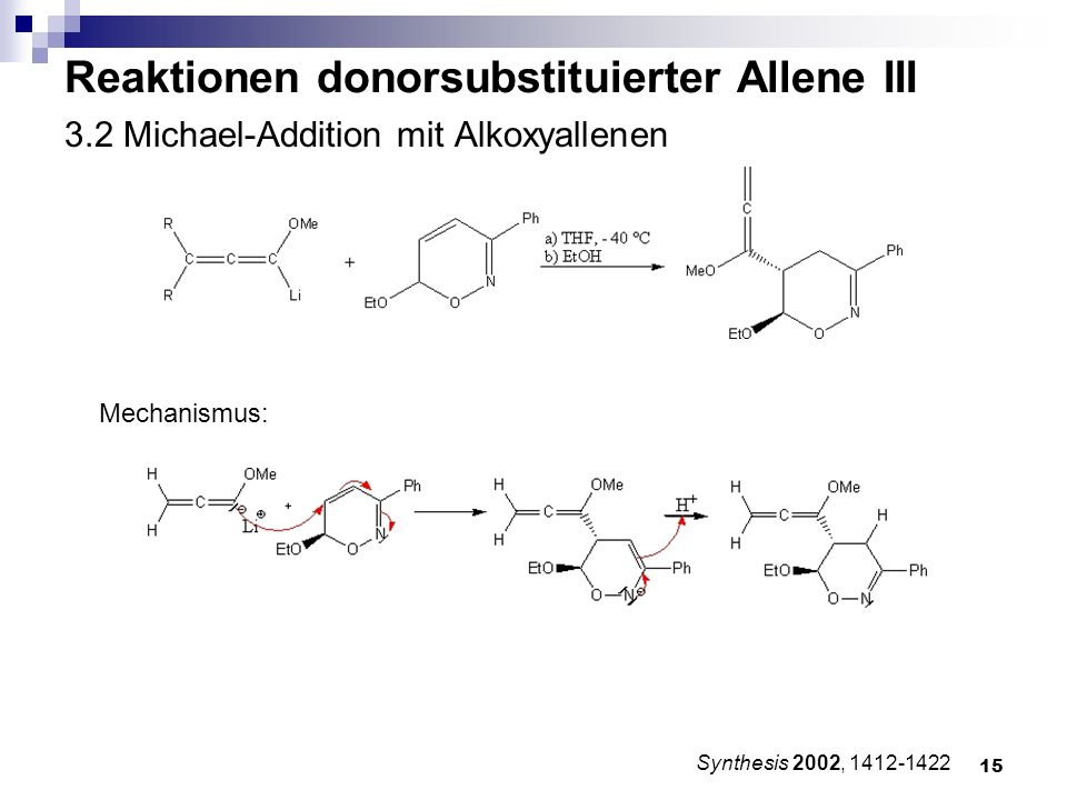 3.2 Michael-Addition mit Alkoxyallenen