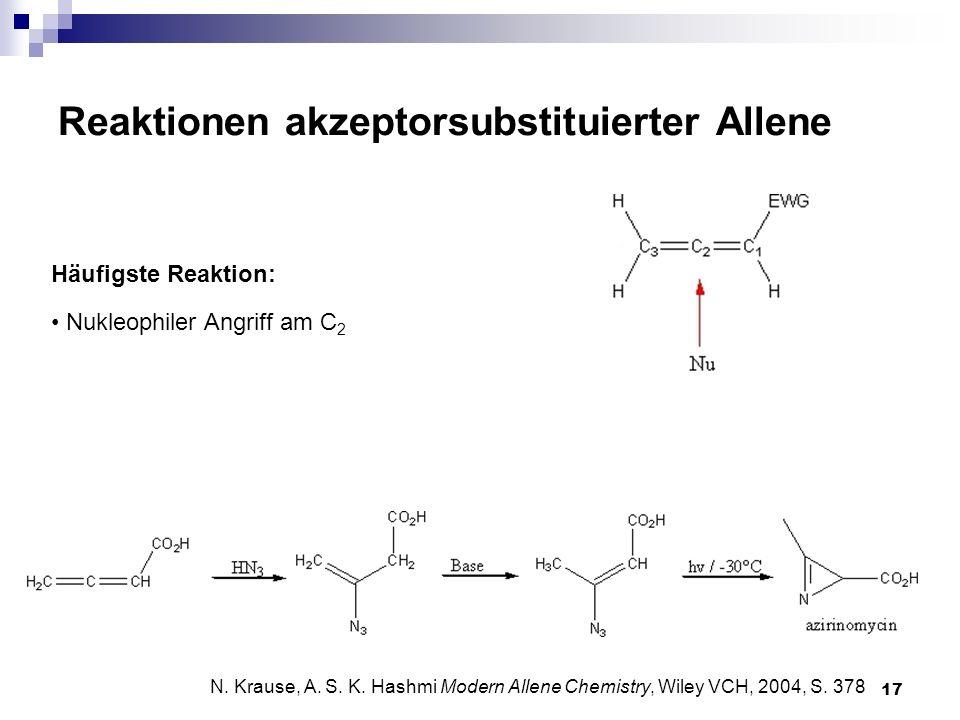 Reaktionen akzeptorsubstituierter Allene
