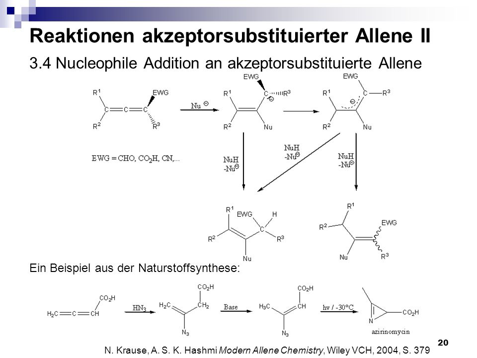 3.4 Nucleophile Addition an akzeptorsubstituierte Allene