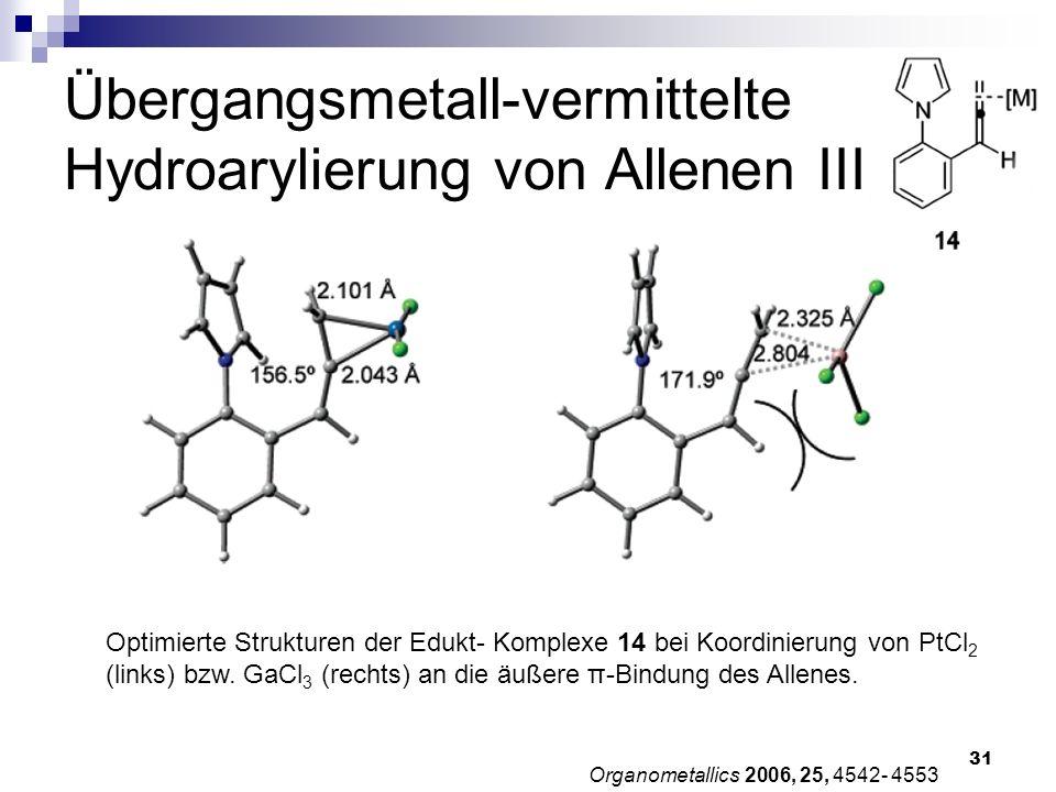 Übergangsmetall-vermittelte Hydroarylierung von Allenen III