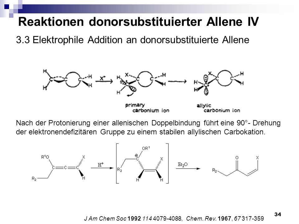 3.3 Elektrophile Addition an donorsubstituierte Allene