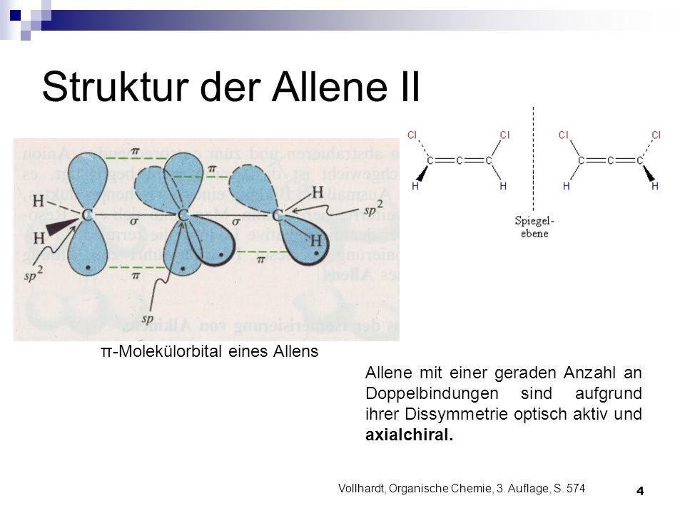 Struktur der Allene II π-Molekülorbital eines Allens