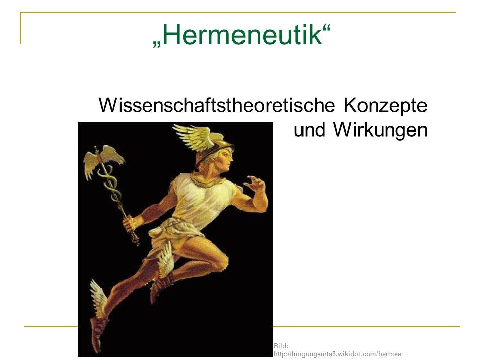 """""""Hermeneutik Wissenschaftstheoretische Konzepte und Wirkungen"""