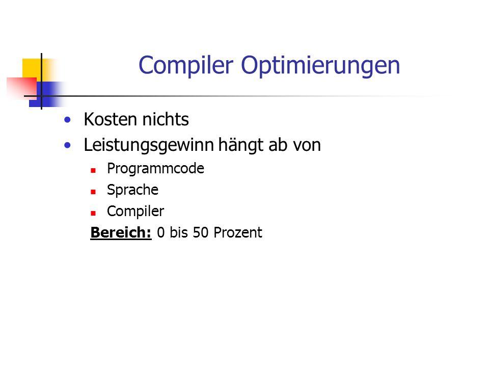 Compiler Optimierungen