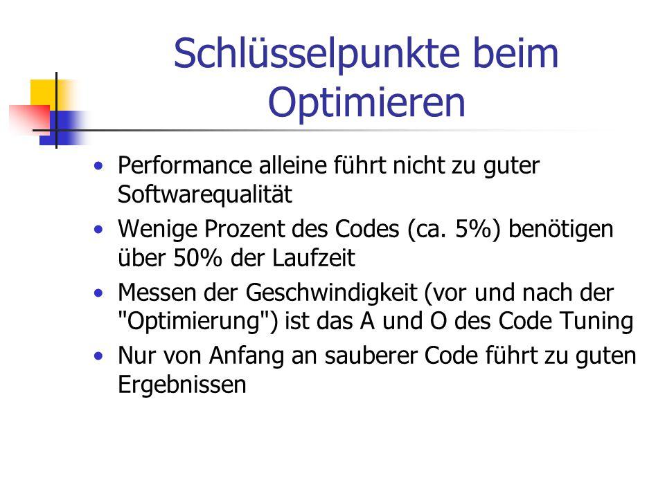 Schlüsselpunkte beim Optimieren