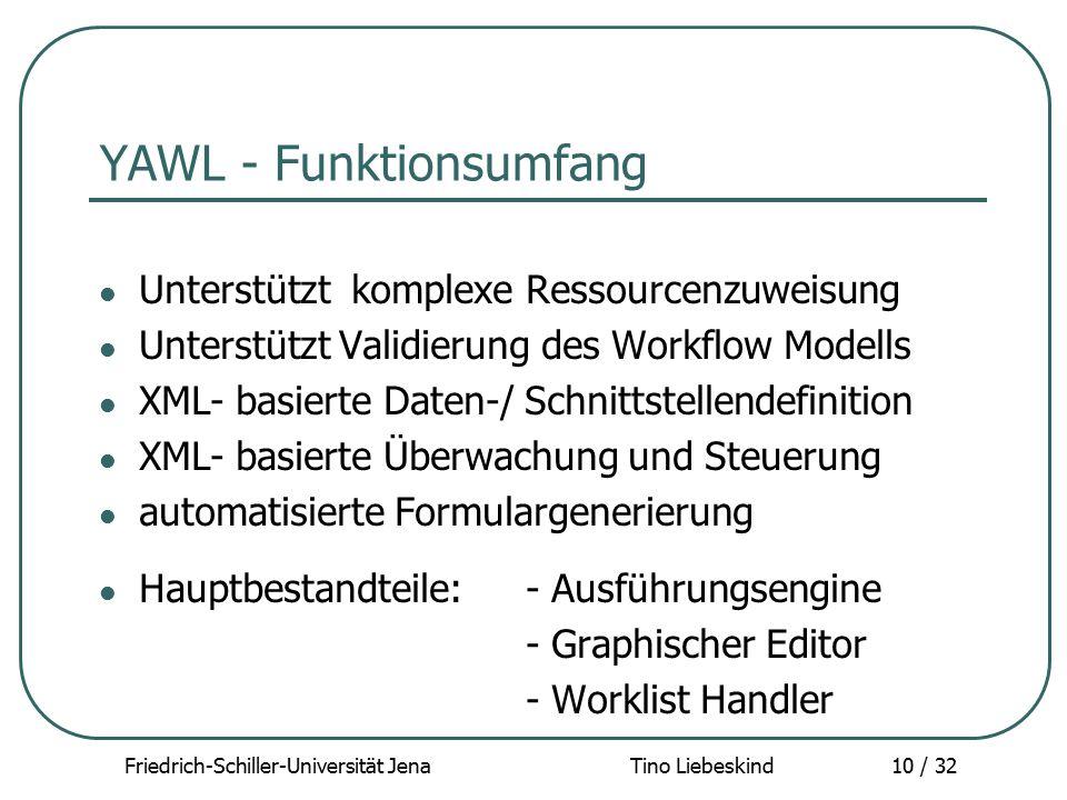 YAWL - Funktionsumfang