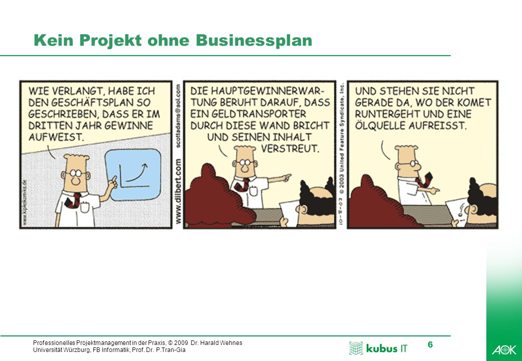 Kein Projekt ohne Businessplan