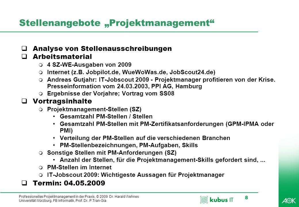 """Stellenangebote """"Projektmanagement"""