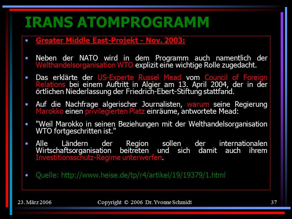Copyright © 2006 Dr. Yvonne Schmidt