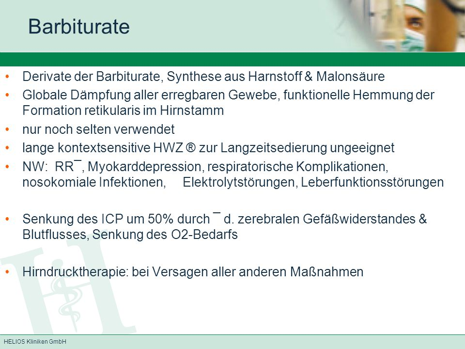 Barbiturate Derivate der Barbiturate, Synthese aus Harnstoff & Malonsäure.