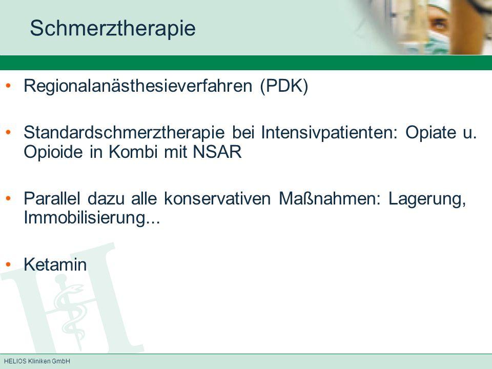 Schmerztherapie Regionalanästhesieverfahren (PDK)