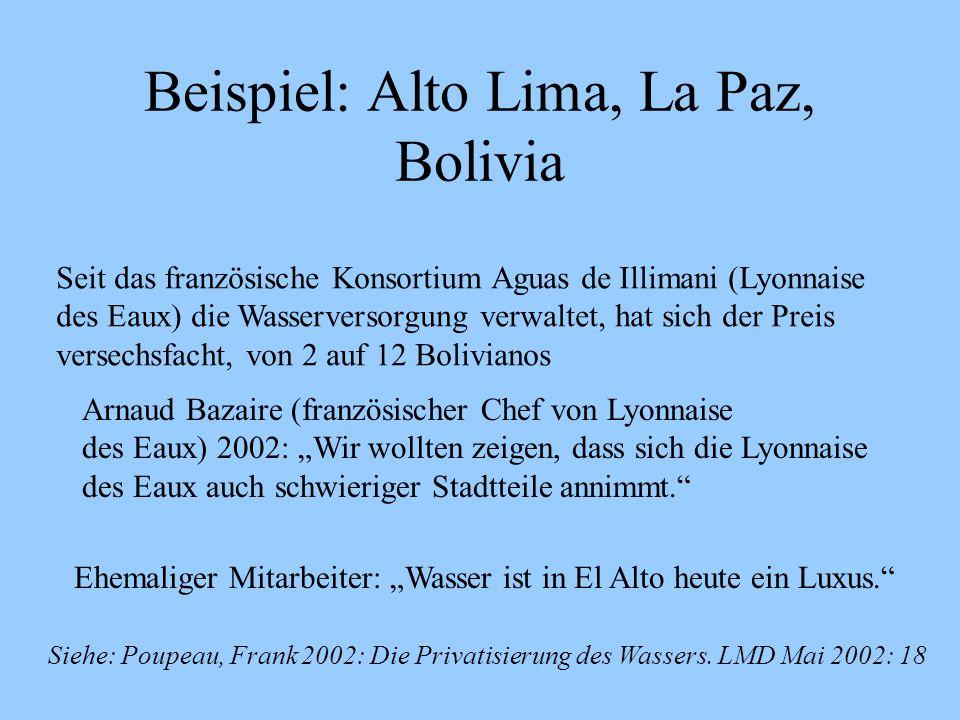 Beispiel: Alto Lima, La Paz, Bolivia