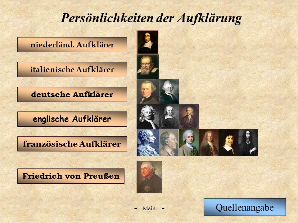 Persönlichkeiten der Aufklärung