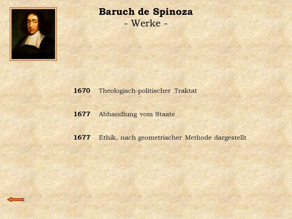 Baruch de Spinoza - Werke -