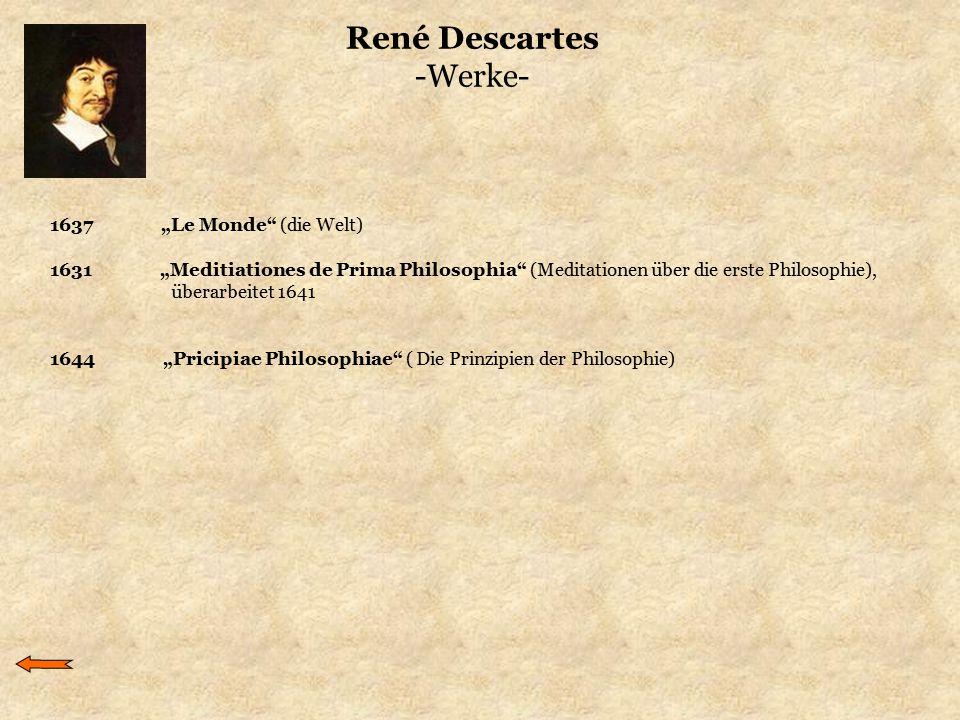 René Descartes -Werke-