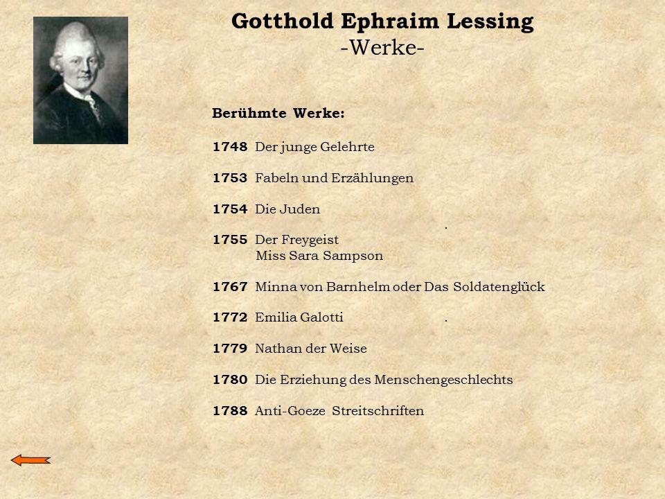 Gotthold Ephraim Lessing -Werke-